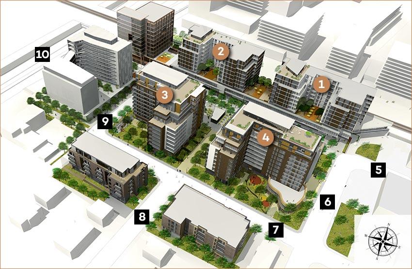 Plan global du projet Westbury Montréal